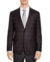 The Men's Store At Bloomingdale's Grey Red Check Slim Fit Sport Coat