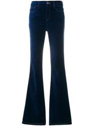 Twin Set Flared Jeans Cotton Spandex Elastane Blue