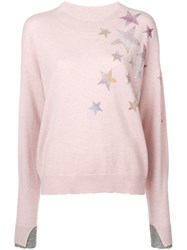Zadig And Voltaire Gaby Star Patch Pullover Pink
