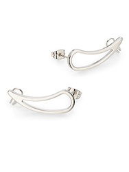 Vita Fede Teardrop Cuff Earrings Silver