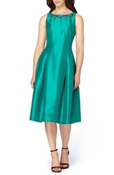 Tahari Women's Shantung Midi Dress