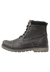 Tom Tailor Laceup Boots Coal Grey