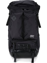 As2ov Square Backpack Men Nylon One Size Black