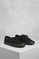 Forever 21 Keds Lace Up Low Top Sneakers Black