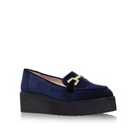 Carvela Latch Platform Slip On Loafers Navy