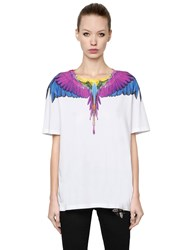 Marcelo Burlon Wings Printed Cotton Jersey T Shirt