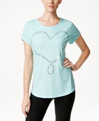Styleandco. Style And Co. Heart Graphic Crew Neck T Shirt Only At Macy's Pacific Aqua