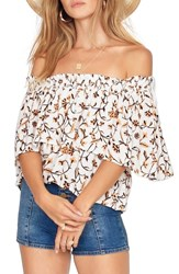 Amuse Society In Your Dreams Off The Shoulder Top Honey