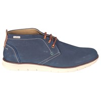 Barbour Bowlam Lace Up Chukka Boots Navy Nubuck