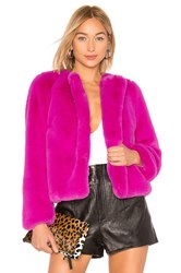 Milly Faux Fur Jacket Pink