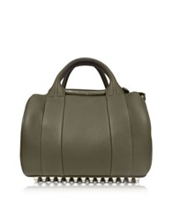 Alexander Wang Rockie Grass Matte Soft Pebbled Leather Satchel Green