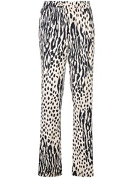 Essentiel Antwerp Stevo Patterned Trousers Blue