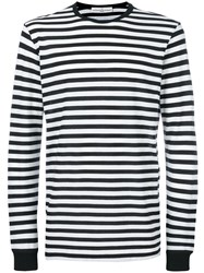 Golden Goose Deluxe Brand Striped Long Sleeve T Shirt Cotton Black