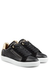 Zadig And Voltaire Embellished Leather Suede Sneakers