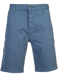 7 For All Mankind Tailored Chino Shorts Blue