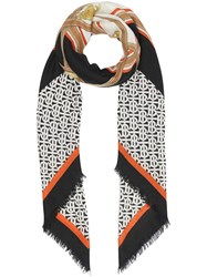 Burberry Archive Scarf Print Cashmere Large Square Scarf Black