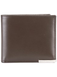 Tod's Metal Detail Bi Fold Wallet Brown