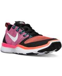 Nike Men's Free Train Versatility Training Sneakers From Finish Line Black White Total Crimson