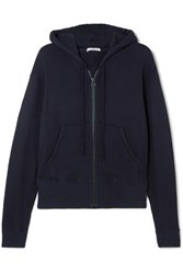 James Perse Cotton Blend Hoodie Navy
