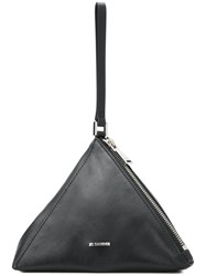 Jil Sander Pyramid Clutch Black
