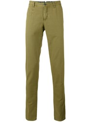 Pt01 Illustrated Chino Trousers Men Cotton Linen Flax 46 Green