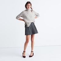 Madewell Shimmer Mini Skirt Dark Metal