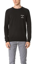 Quality Peoples Coffee And Waves Crew Sweatshirt Black