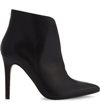Aldo Drima Leather Heeled Ankle Boots Black Leather