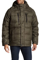 Hawke And Co. Faux Fur Collar Hooded Puffer Jacket Gray