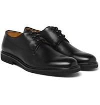 A.P.C. Gustave Polished Leather Derby Shoes Black
