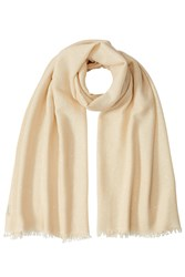 Brunello Cucinelli Cashmere Silk Sequined Scarf White