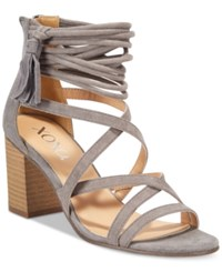 Xoxo Elle Block Heel Sandals Women's Shoes Taupe