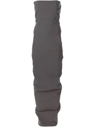 Rick Owens Strapless Fitted Dress Grey
