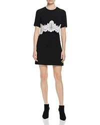 Sandro Kokeshi Lace Overlay Dress 100 Bloomingdale's Exclusive Black