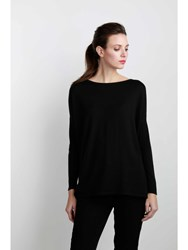 Johnstons Of Elgin Oversized Boat Neck Sweater Black