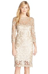Women's Tadashi Shoji Sequin Embellished Mesh Sheath Dress Pearl