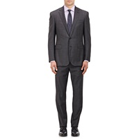 Ralph Lauren Black Label Windowpane Checked Two Button Suit Medium Gray