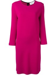 Gianluca Capannolo Round Neck Shift Dress Pink And Purple