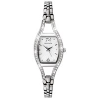 Sekonda 4191.27 Women's Diamante Bezel Stainless Steel Bracelet Strap Watch Silver