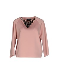 Clips Topwear T Shirts Women Pastel Pink