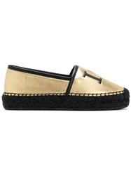 Dolce And Gabbana I Heart D G Espadrilles Metallic