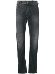 Emporio Armani Straight Fit Denim Trousers Black