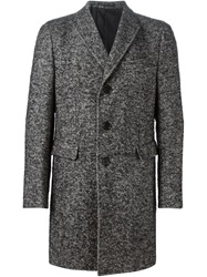 Z Zegna Tweed Coat Black