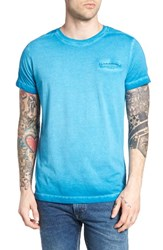 Dieselr Men's Diesel T Diego Jamy Burnout Pocket T Shirt Blue
