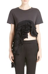 Women's Haider Ackermann Pleated Ruffle High Low Tee