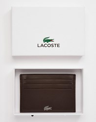 Lacoste Leather Card Holder Brown