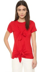 Marques Almeida Slashed And Knotted Tee Red