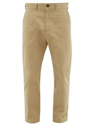 Studio Nicholson Tapered Cotton Twill Trousers Beige