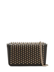 Christian Louboutin Zoom Pouch Spiked Leather Bag Black