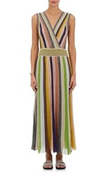 Missoni Women's Metallic Striped Maxi Dress Pink